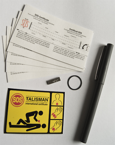 399999 Genuine SOS Talisman Information Strips (Pack of 5 Info Inserts) + Accessories Value Pack