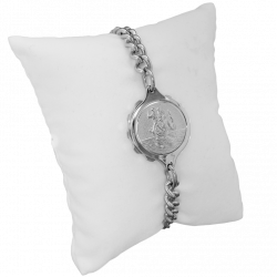SOS Talisman ST11 Ladies St Christopher Medical ID Alert Diabetic Epilepsy Allergy Bracelet. Stainless Stee