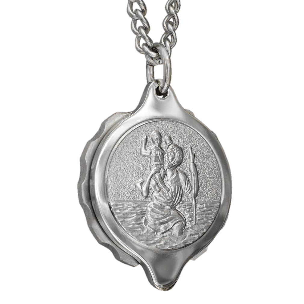 Sos talisman st christopher medical id alert necklace pendant sos talisman st20 st christopher medical id alert pendant necklace stainless steel mozeypictures