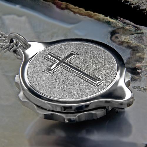 SOS Talisman ST22 Christian Cross Medical ID Alert Pendant (Necklace) Stainless Steel.