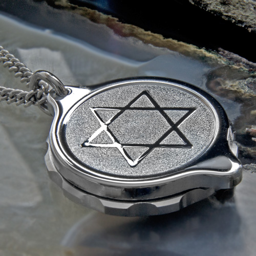 SOS Talisman ST26 Star Of David Medical ID Alert Pendant (Necklace) Stainless Steel.
