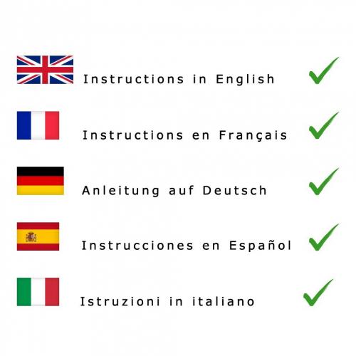 SOS insuctions english spanish german italian french