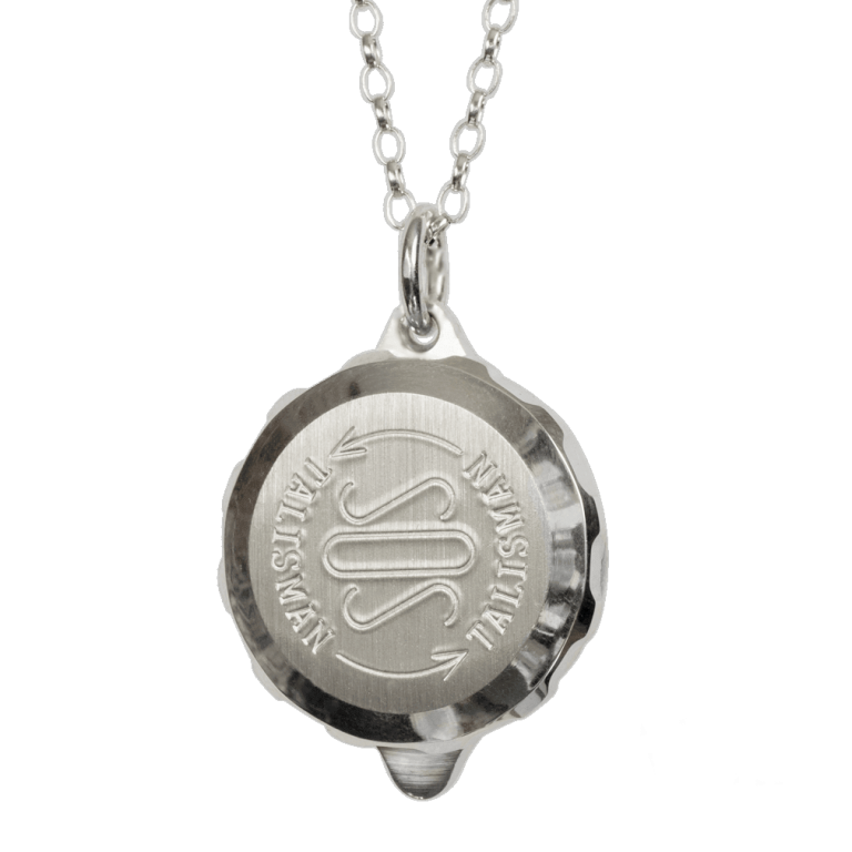 "Sterling Silver SOS Talisman Pendant - Unisex ID Alert Necklace Allergy, Diabetes, Epilepsy etc. Silver 20"" Chain. Presentation box. ST60."