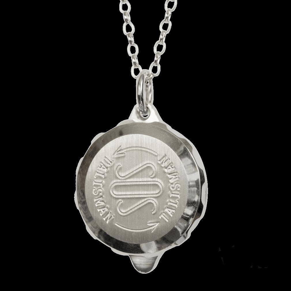 sos talisman sterling silver necklace id alert
